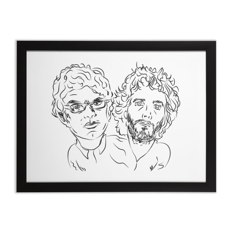 Bret Jermaine Flight of the Conchords Home Framed Fine Art Print by Loganferret's Artist Shop