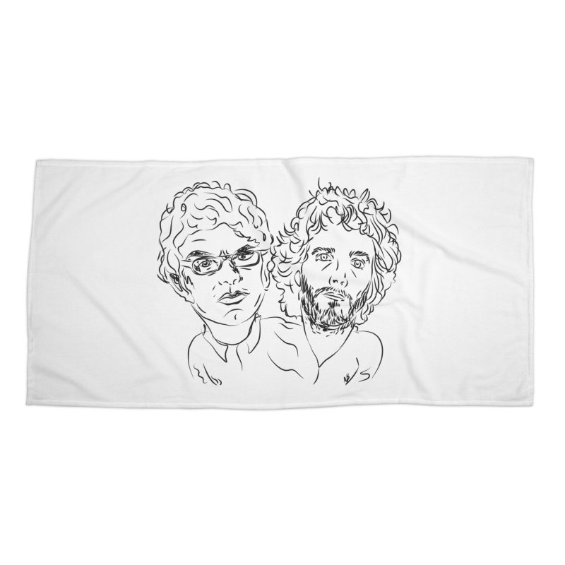 Bret Jermaine Flight of the Conchords Accessories Beach Towel by Loganferret's Artist Shop