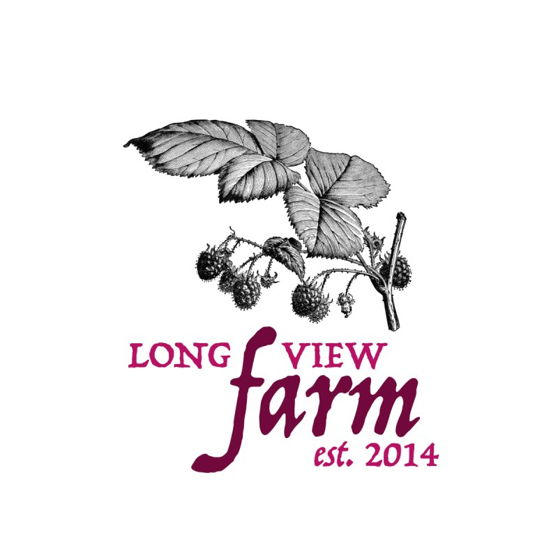 Long View Farm Classic Raspberry Logo Coffee Cup by Long View Farm