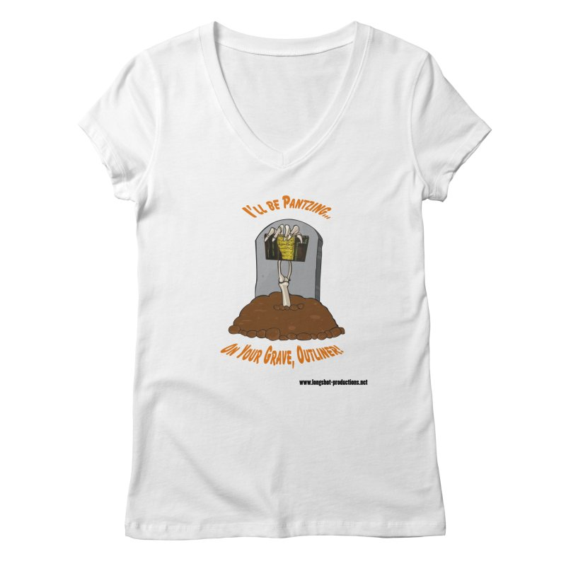 Pantzers Vs Outliners Women's V-Neck by Author Centric Designs By Longshot Productions