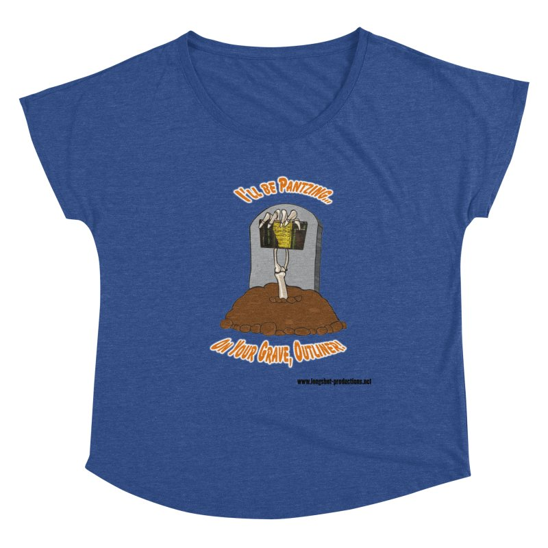 Pantzers Vs Outliners Women's Scoop Neck by Author Centric Designs By Longshot Productions