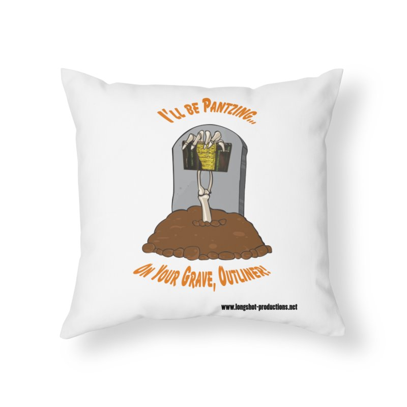 Pantzers Vs Outliners Home Throw Pillow by Author Centric Designs By Longshot Productions