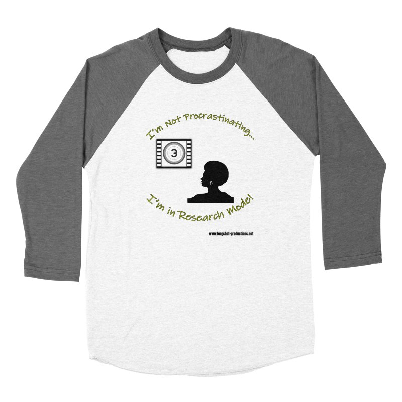 I'm Not Procrastinating...I'm in Research Mode! (Lady 1) Women's Longsleeve T-Shirt by Author Centric Designs By Longshot Productions