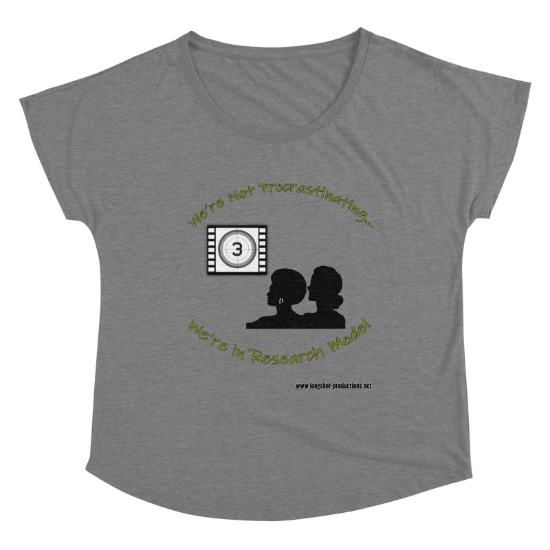 We're Not Procrastinating...We're in Research Mode! (Ladies Night) Women's Scoop Neck by Author Centric Designs By Longshot Productions