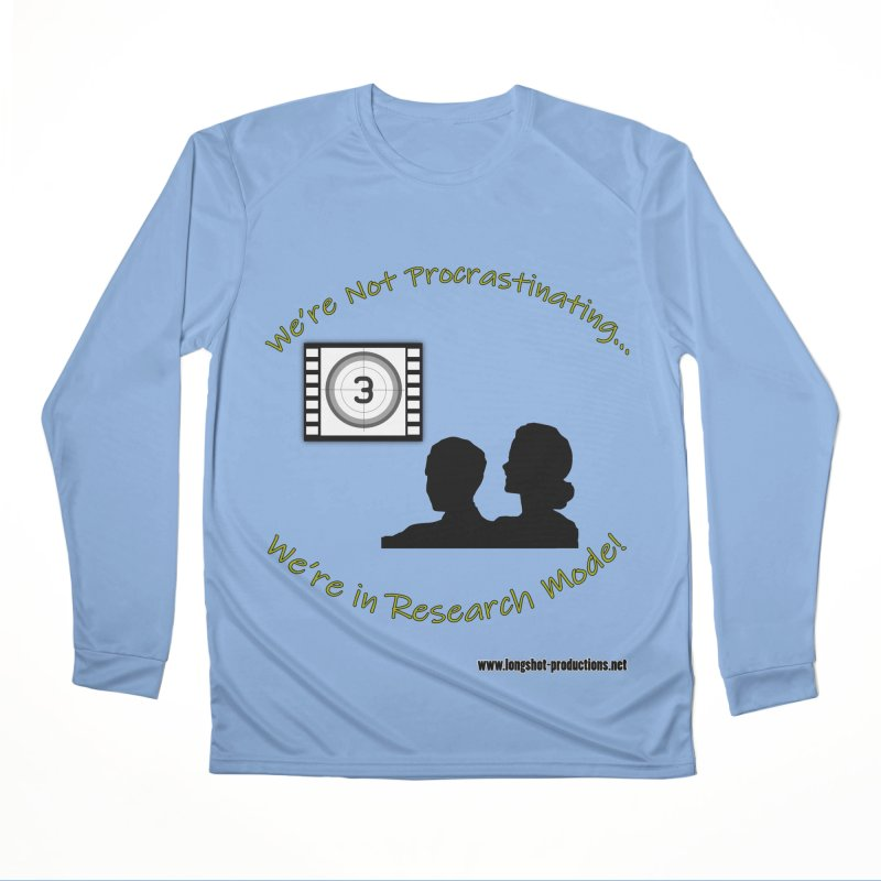 We're Not Procrastinating...We're in Research Mode! (Movie Night) Women's Longsleeve T-Shirt by Author Centric Designs By Longshot Productions