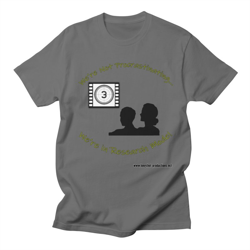 We're Not Procrastinating...We're in Research Mode! (Movie Night) Men's T-Shirt by Author Centric Designs By Longshot Productions