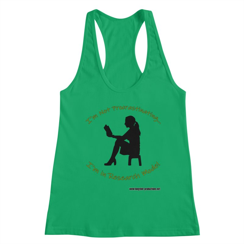 I'm Not Procrastinating...I'm in Research Mode! (Reading Woman) Women's Tank by Author Centric Designs By Longshot Productions