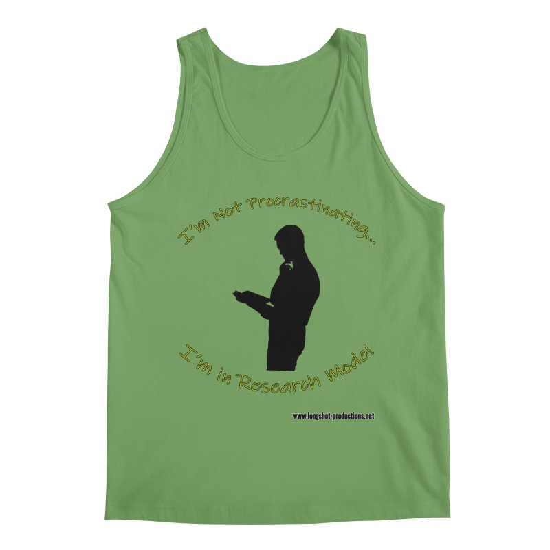 I'm Not Procrastinating...I'm in Research Mode! (Reading Man) Men's Tank by Author Centric Designs By Longshot Productions