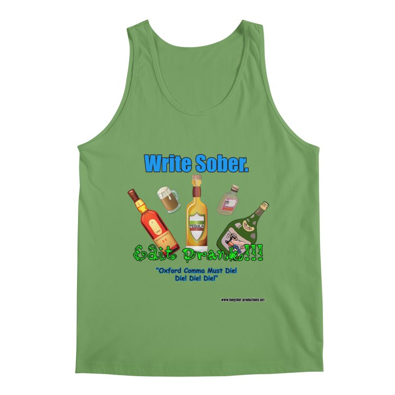 Write Sober. Edit Drunk. Men's Tank by Author Centric Designs By Longshot Productions