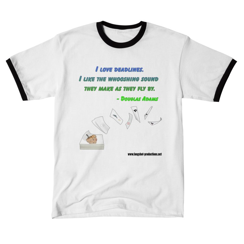 Deadlines Due in 42 Men's T-Shirt by Author Centric Designs By Longshot Productions