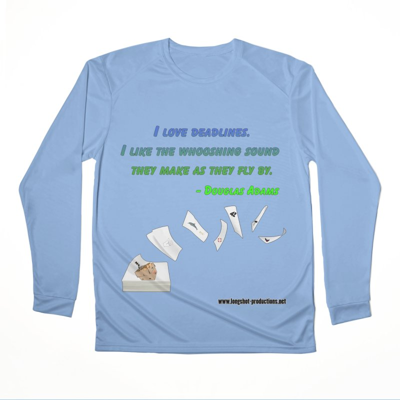 Deadlines Due in 42 Women's Longsleeve T-Shirt by Author Centric Designs By Longshot Productions
