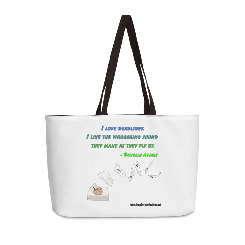 Deadlines Due in 42 Accessories Bag by Author Centric Designs By Longshot Productions