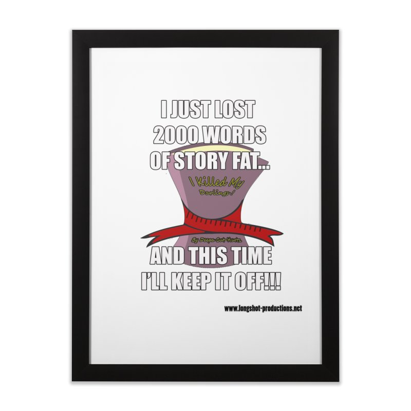 I Just Lost 2000 Words... Home Framed Fine Art Print by Author Centric Designs By Longshot Productions