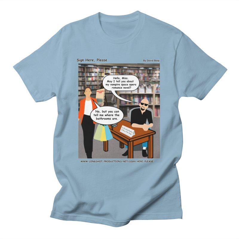 Sign Here, Please Season 1 Episode 1 - Bathroom Men's T-Shirt by Author Centric Designs By Longshot Productions