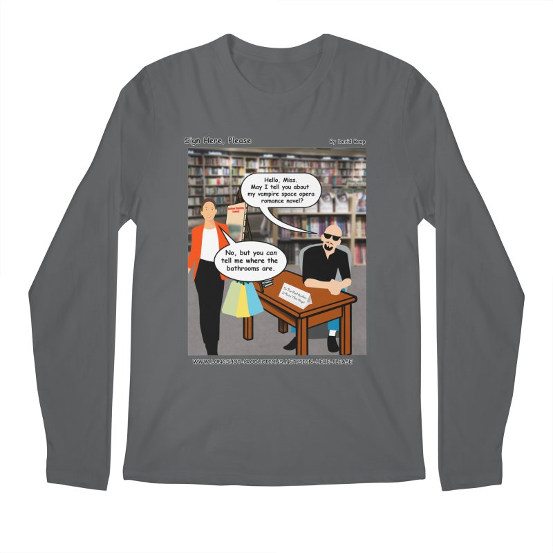 Sign Here, Please Season 1 Episode 1 - Bathroom Men's Longsleeve T-Shirt by Author Centric Designs By Longshot Productions