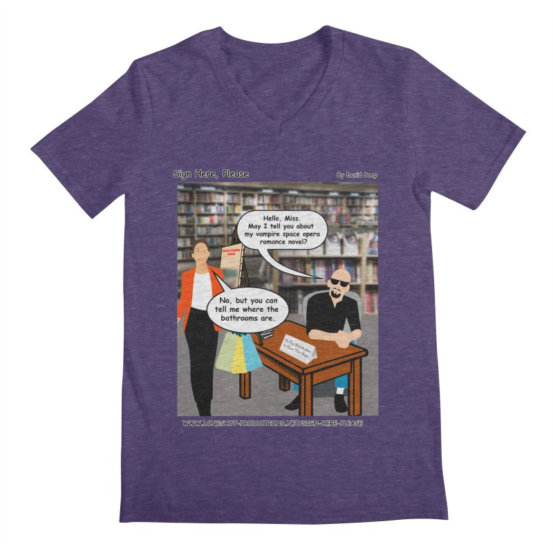 Sign Here, Please Season 1 Episode 1 - Bathroom Men's V-Neck by Author Centric Designs By Longshot Productions
