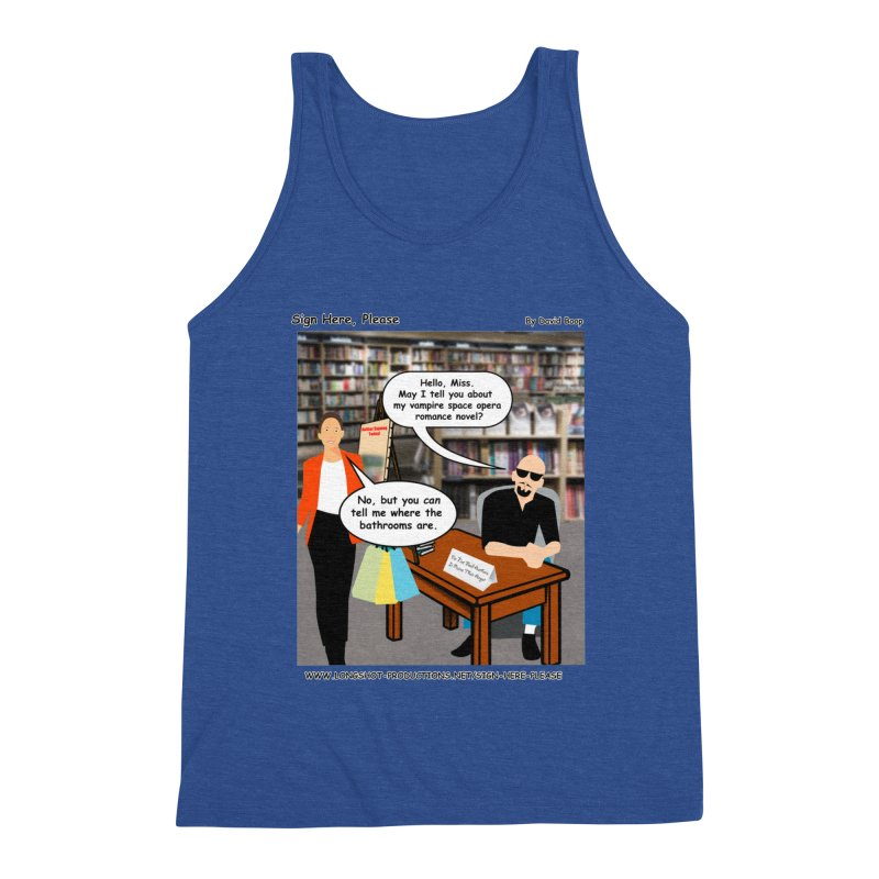 Sign Here, Please Season 1 Episode 1 - Bathroom Men's Tank by Author Centric Designs By Longshot Productions