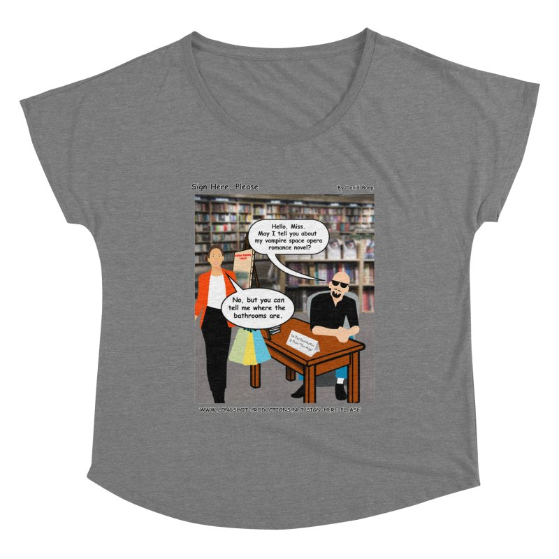 Sign Here, Please Season 1 Episode 1 - Bathroom Women's Scoop Neck by Author Centric Designs By Longshot Productions