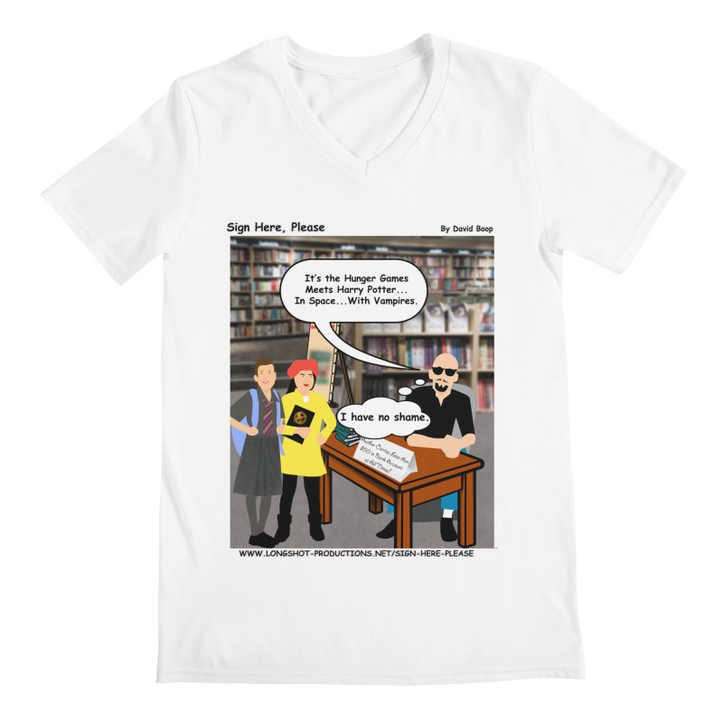 Sign Here, Please Season 1, Episode 2 - Potter Men's V-Neck by Author Centric Designs By Longshot Productions