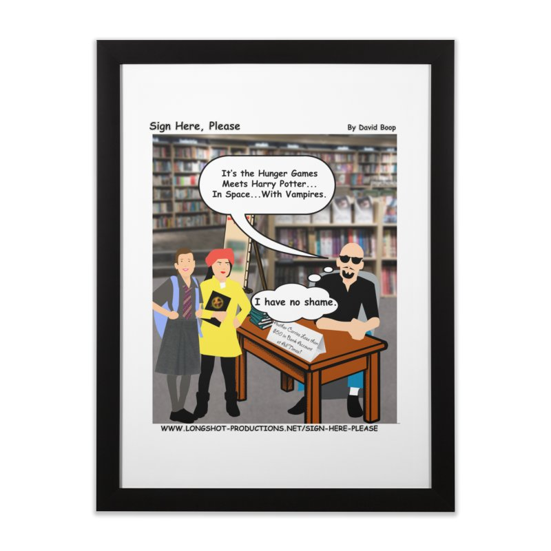 Sign Here, Please Season 1, Episode 2 - Potter Home Framed Fine Art Print by Author Centric Designs By Longshot Productions