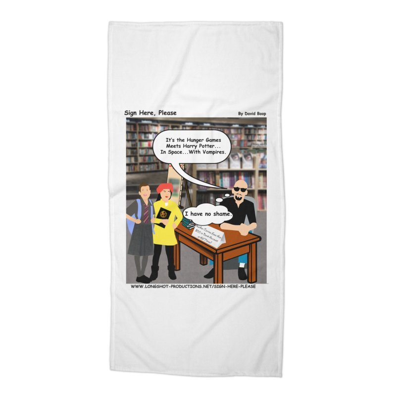 Sign Here, Please Season 1, Episode 2 - Potter Accessories Beach Towel by Author Centric Designs By Longshot Productions