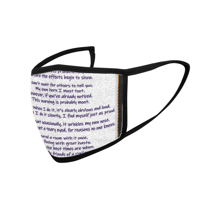 Pardon Me. I Arted. Accessories Face Mask by Author Centric Designs By Longshot Productions