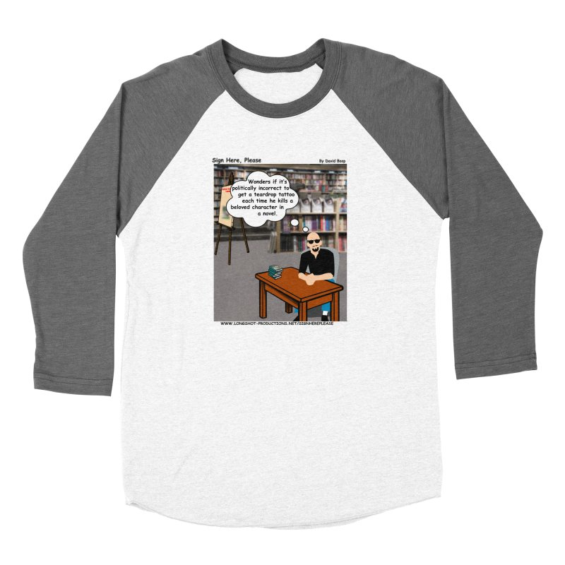 Sign Here Please - Teardrop Women's Longsleeve T-Shirt by Author Centric Designs By Longshot Productions