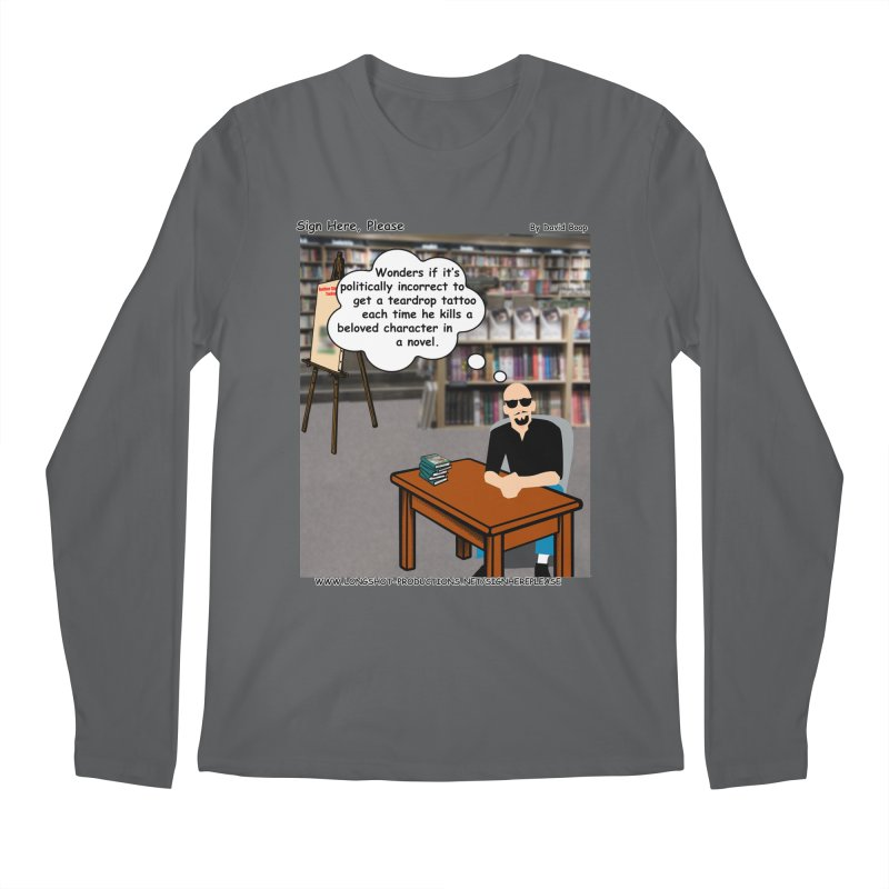 Sign Here Please - Teardrop Men's Longsleeve T-Shirt by Author Centric Designs By Longshot Productions