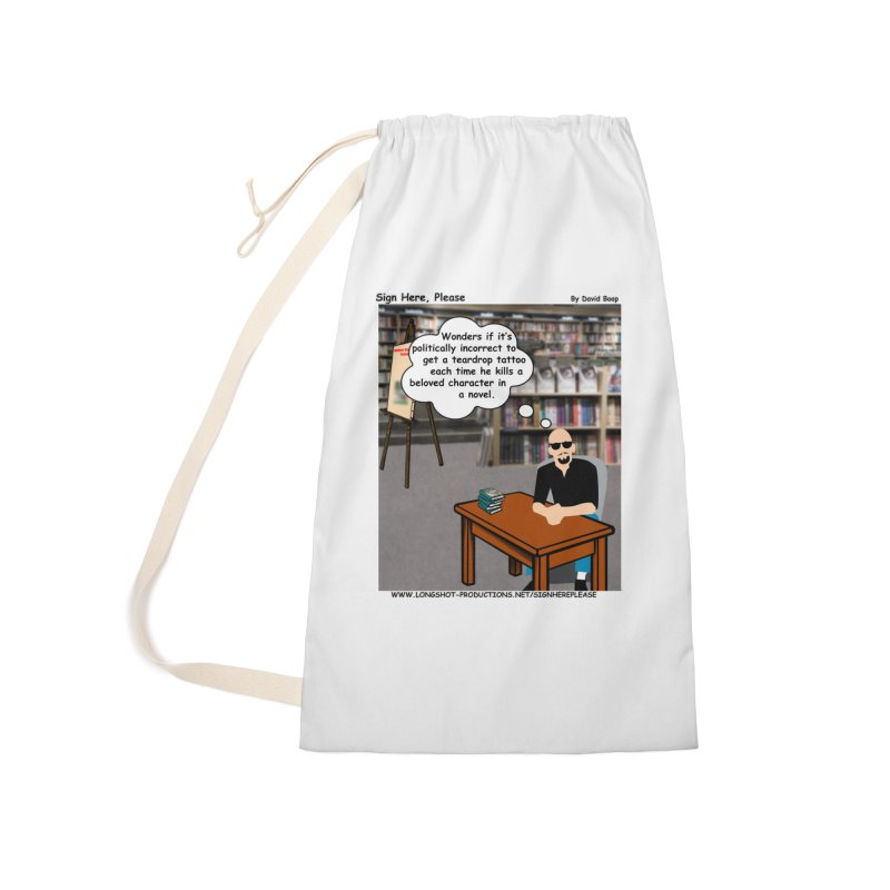 Sign Here Please - Teardrop Accessories Bag by Author Centric Designs By Longshot Productions