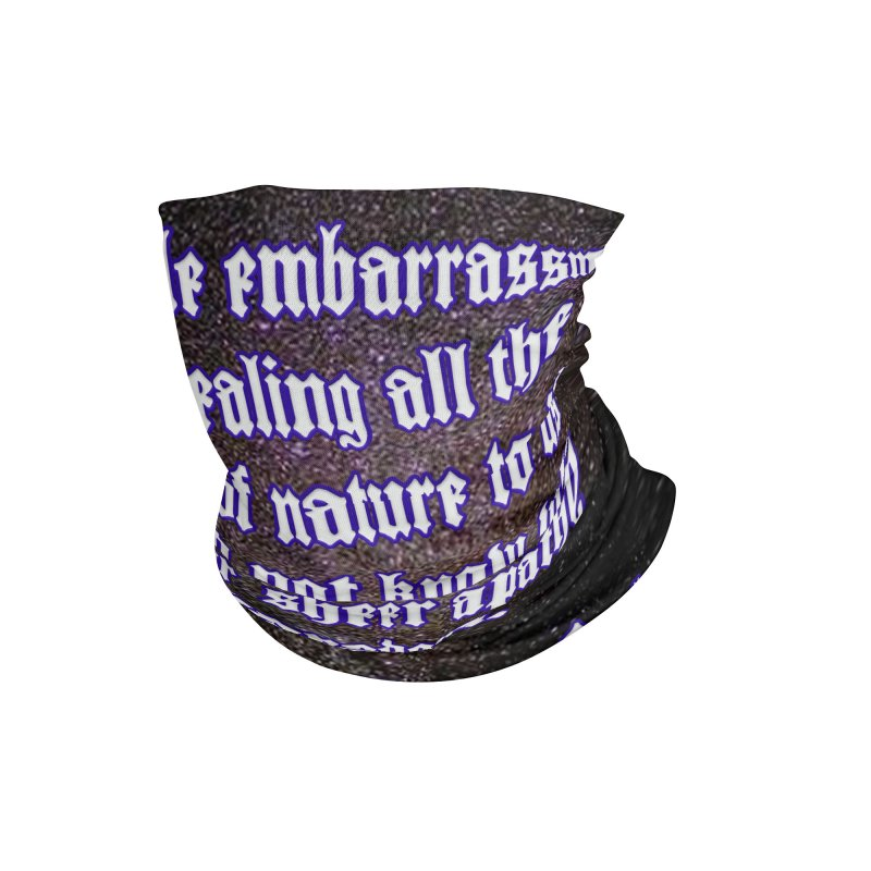 God and Science and Goethe Accessories Neck Gaiter by Author Centric Designs By Longshot Productions