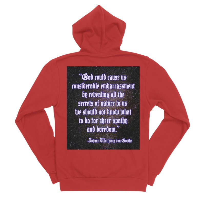 God and Science and Goethe Women's Zip-Up Hoody by Author Centric Designs By Longshot Productions