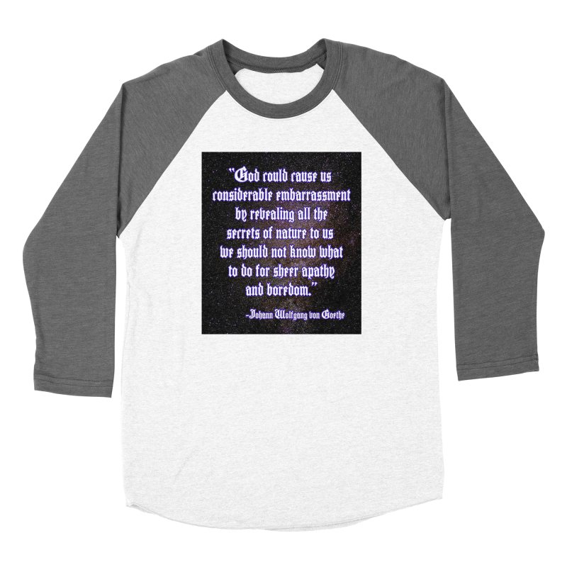 God and Science and Goethe Women's Longsleeve T-Shirt by Author Centric Designs By Longshot Productions