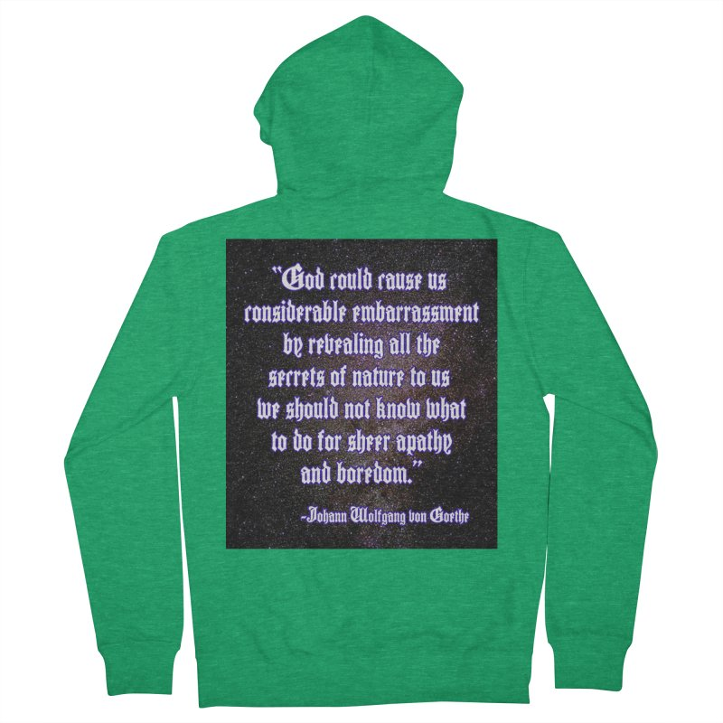 God and Science and Goethe Men's Zip-Up Hoody by Author Centric Designs By Longshot Productions