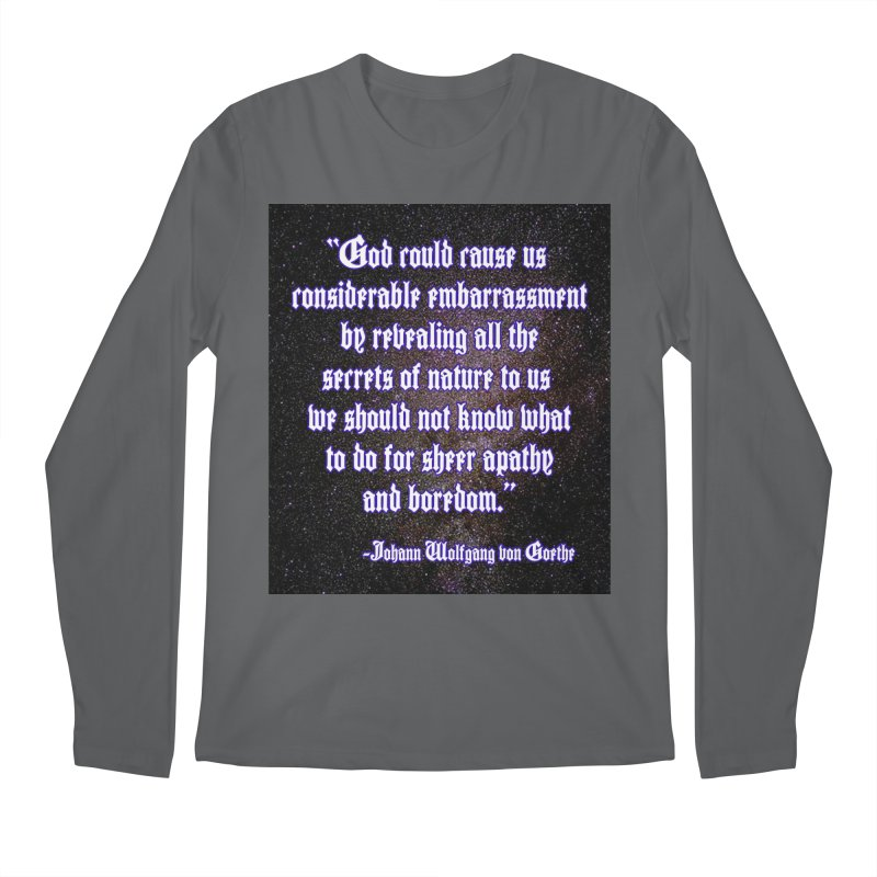 God and Science and Goethe Men's Longsleeve T-Shirt by Author Centric Designs By Longshot Productions