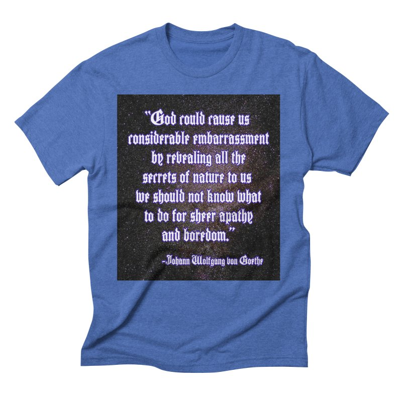God and Science and Goethe Men's T-Shirt by Author Centric Designs By Longshot Productions