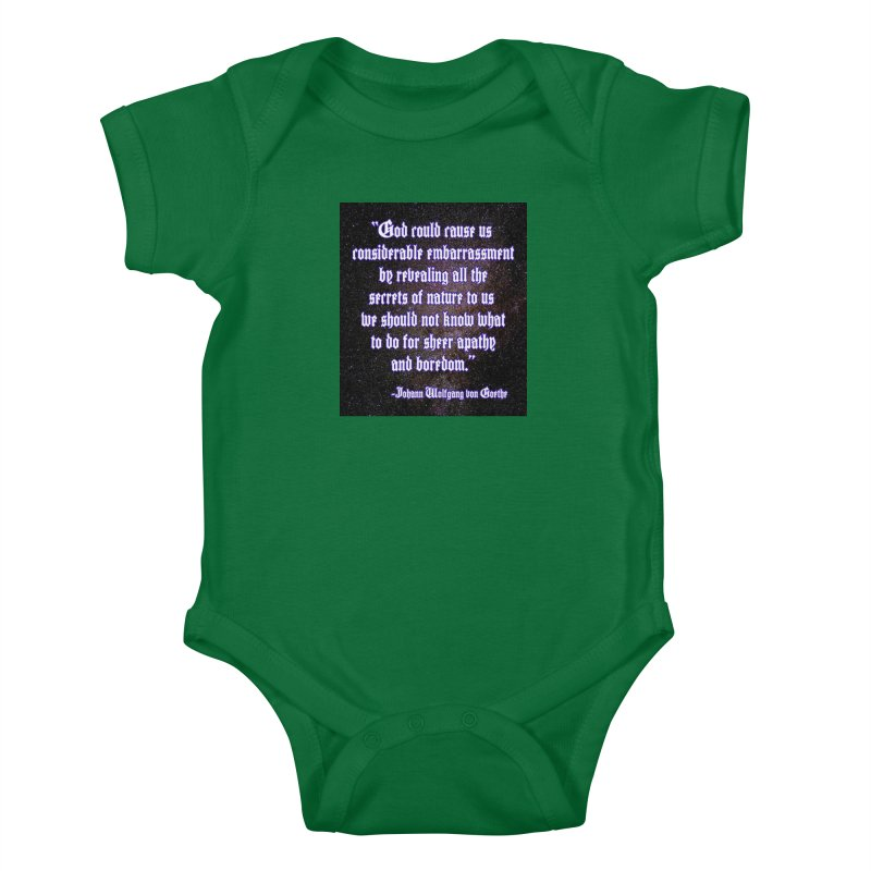 God and Science and Goethe Kids Baby Bodysuit by Author Centric Designs By Longshot Productions