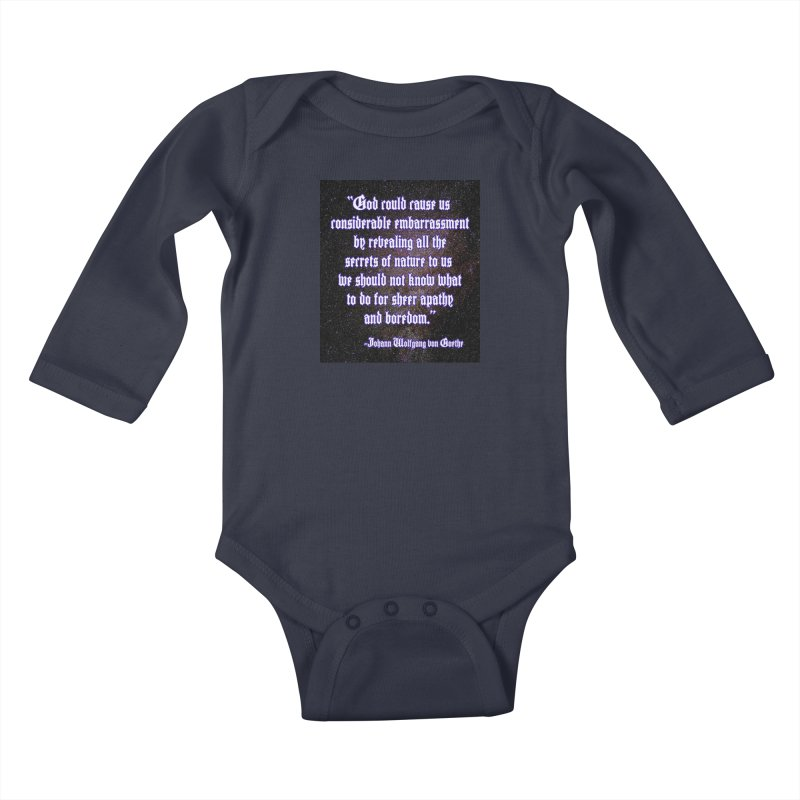 God and Science and Goethe Kids Baby Longsleeve Bodysuit by Author Centric Designs By Longshot Productions