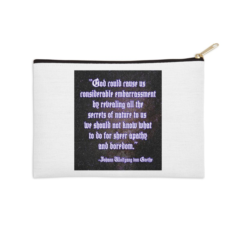 God and Science and Goethe Accessories Zip Pouch by Author Centric Designs By Longshot Productions