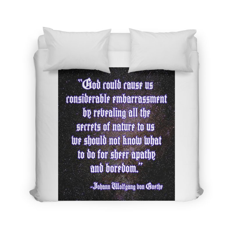 God and Science and Goethe Home Duvet by Author Centric Designs By Longshot Productions