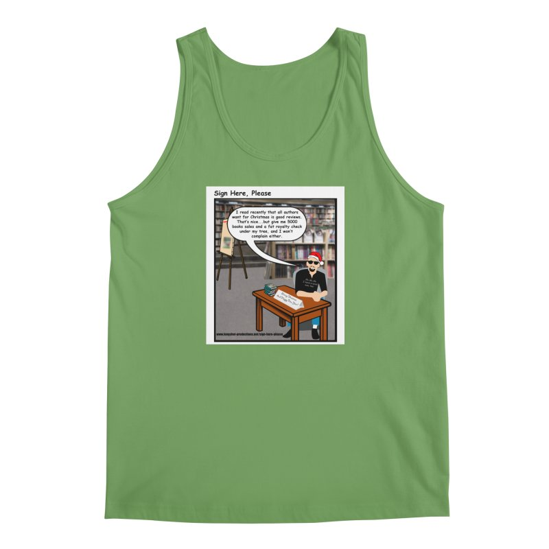 Sign Here Please Christmas One Shot Men's Tank by Author Centric Designs By Longshot Productions