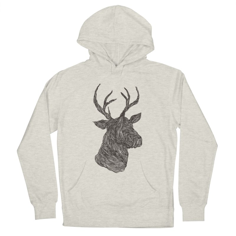 Wire deer Women's Pullover Hoody by Loremnzo's Artist Shop