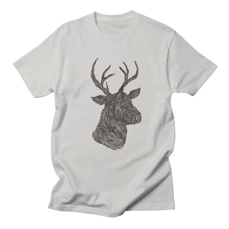 Wire deer Men's T-Shirt by Loremnzo's Artist Shop