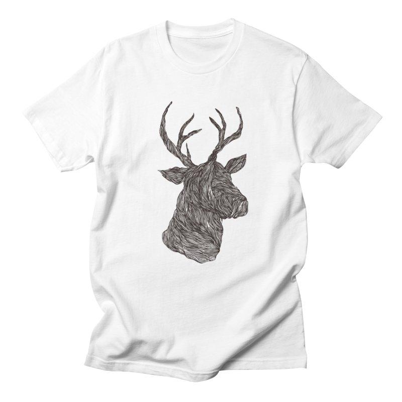 Wire deer Men's T-shirt by Loremnzo's Artist Shop