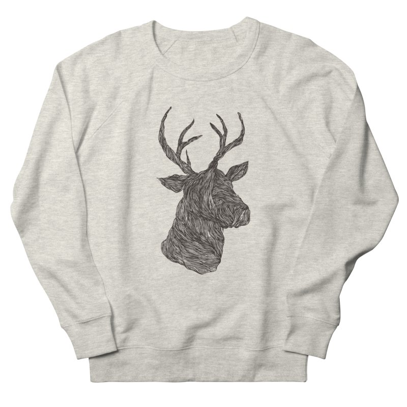 Wire deer Men's Sweatshirt by Loremnzo's Artist Shop