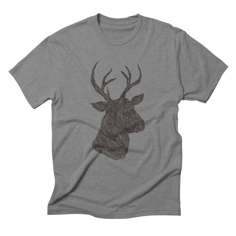 Wire deer Men's Triblend T-Shirt by Loremnzo's Artist Shop