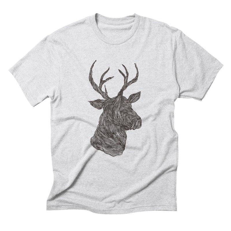 Wire deer Men's Triblend T-shirt by Loremnzo's Artist Shop