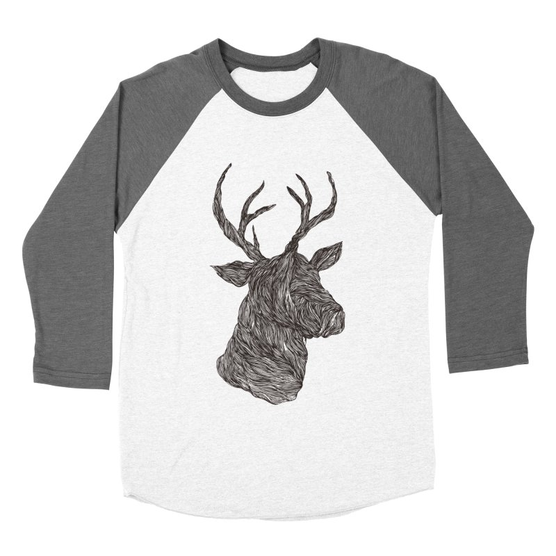 Wire deer Women's Baseball Triblend T-Shirt by Loremnzo's Artist Shop