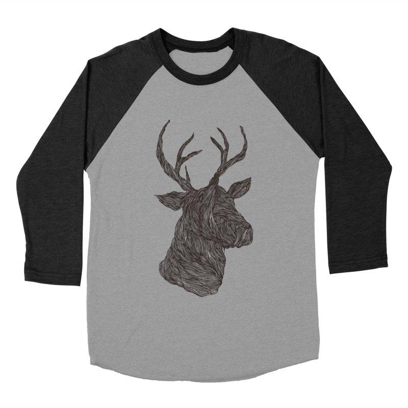 Wire deer Women's Baseball Triblend T-Shirt by Loremnzo's Artist Shop