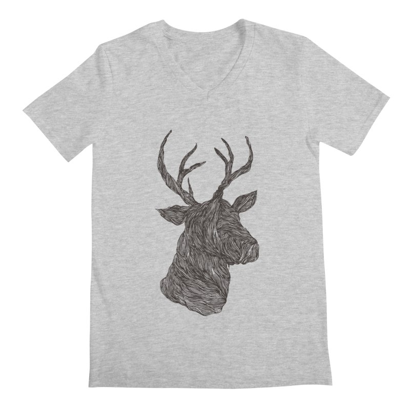 Wire deer Men's V-Neck by Loremnzo's Artist Shop