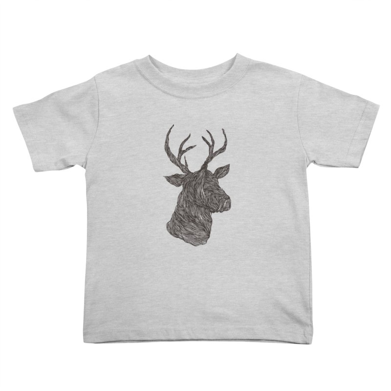 Wire deer Kids Toddler T-Shirt by Loremnzo's Artist Shop